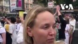 У Білорусі жінки вийшли на протест проти жорстокості силовиків. Відео