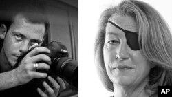 敘利亞猛烈砲擊造成兩名西方記者英國《星期日泰晤士報》的著名美國記者瑪麗.科爾文(右)和法國攝影師萊米.奧奇力克(左)。