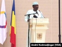 Idriss Deby Itno, président du Tchad, à N'Djamena, le 18 juin 2019. (VOA/André Kodmadjingar)