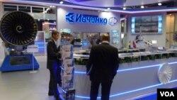 2013年8月莫斯科航展上烏克蘭西奇發動機公司的展台。