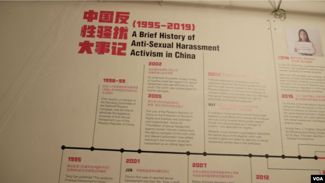 Metoo in China exhibition in NY