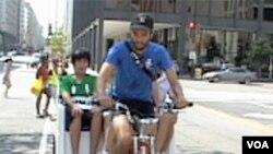 Washington: Vožnja rikšom i posao i zabava