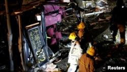 香港2018年2月10日發生致命交通事故(路透社)