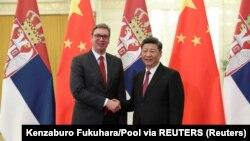სერბეთის პრეზიდენტი, ალექსანდერ ვუჩიჩი და ჩინეთის პრეზიდენტი, სი ცინპინი. პეკინი, ჩინეთი.