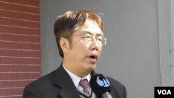 民進黨立委黃偉哲(美國之音申華拍攝)
