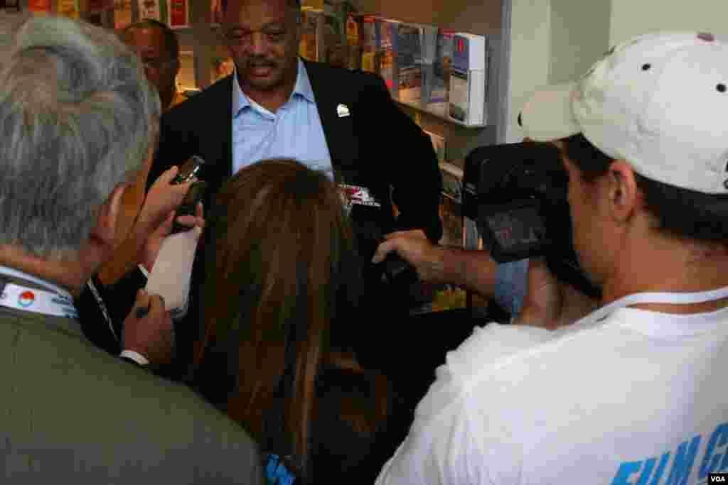 Jessy Jackson with media