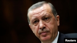 FILE - Turkey's Prime Minister Tayyip Erdogan, April 16, 2013.