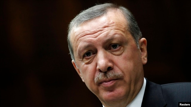 FILE - Turkey's Prime Minister Tayyip Erdogan, April 16, 2013.