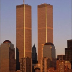 World Trade Center towers, as seen in the 1980s