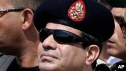 FILE - Egypt's President and former Gen. Abdel-Fattah el-Sissi.