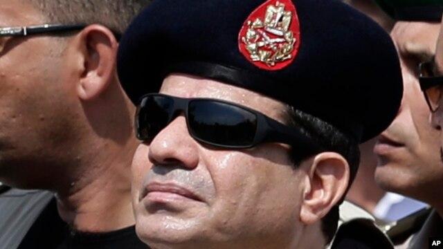 Egypt's Defense Minister Gen. Abdel-Fattah el-Sissi, Cairo, Egypt, Friday, Sept. 20, 2013.
