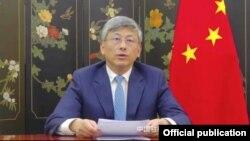 ျမန္မာႏိုင္ငံဆိုင္ရာ တ႐ုတ္သံအမတ္ႀကီး Chen Hai (ဓာတ္ပံု - Chinese Embassy in Myanmar - ဇန္နဝါရီ ၂၆၊ ၂၀၂၁)