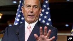 """""""Estamos trabajando con nuestros miembros y buscando las opciones que tenemos, pero la cámara va a actuar"""", dijo Boehner."""