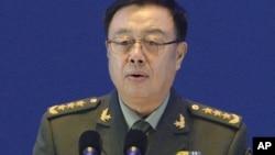2015年10月17日中國中央軍委副主席范長龍在北京舉行的第六屆香山論壇發表講話。