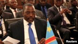 FILE - Democratic Republic of Congo's President Joseph Kabila is seen at a meeting of leaders from the Southern African Development Community (SADC) in Pretoria, South Africa, Nov. 4, 2013.