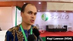 Thibaud Rossel, conseiller technique en Agroécologie à SECAAR (SIALO 2019), Lomé, le 9 octobre 2019. (VOA/Kayi Lawson)