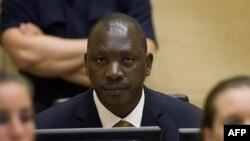 Kongoanski komandant Tomas Lubanga u sudnici Medjunarodnog krivičnog suda .