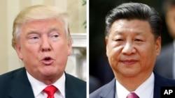 美國總統川普(左),中國國家主席習近平