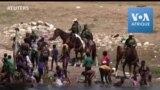 Des migrants d'Haïti repoussés par la police des frontières américaine
