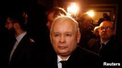 FILE - Jaroslaw Kaczynski, leader of the ruling party Law and Justice (PiS).