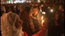 开罗民众集会悼念阿拉伯之春死难者