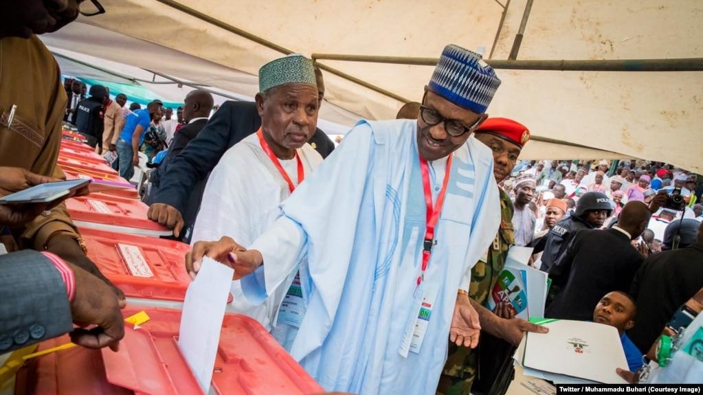 """Résultat de recherche d'images pour """"Muhammadu Buhari vainqueur élections"""""""