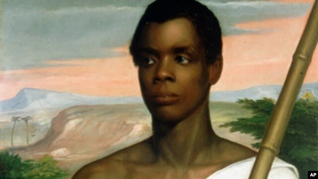 Joseph Cinque, or Sengbe Pieh, in a 1839 portrait by Nathaniel Jocelyn, overthrew the crew of the slave ship La Amistad.