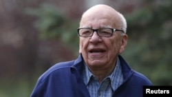 CEO of News Corp Rupert Murdoch attends the Allen & Co Media Conference in Sun Valley, Idaho July 13, 2012.