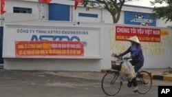Cơ sở của một công ty Đài Loan bị hư hỏng sau các vụ biểu tình bạo động trong khu công nghiệp ở tỉnh Bình Dương, ngày 17/5/2014.