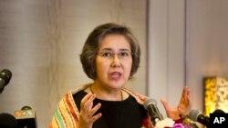Yanghee Lee, Intumwa idasanzwe y'ishirahamwe mpuzamakungu ONU ku vyerekeye agateka ka muntu, mu gihugu ca Myanmar.