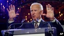 L'ancien vice-président Joe Biden lors de la remise des prix Biden Courage le 26 mars 2019 à New York.