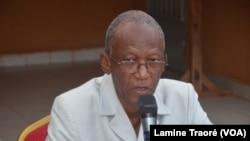 Chrisogone Zougmooré, président du MBDHP, à Ouagadougou, le 9 mars 2019. (VOA/Lamine Traoré)
