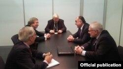 Elmar Məmmədyarovun ATƏT-in Minsk qrupunun həmsədrləri ilə görüşü