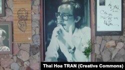 Ảnh Trịnh Công Sơn tại Nhà tưởng niệm Trịnh Công Sơn ở Bình Quới, TP.HCM.