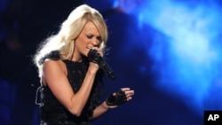Carrie Underwood en la cuadragésima entrega de los premios American Music Awards, el 18 de noviembre, de 2012, en Los Angeles.