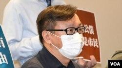 荃灣區議員劉志雄表示,港府的引入公務員宣誓效忠的文化,進一步將香港的公務員 變成中國的官員或者幹部,完全要忠於政權。 (美國之音湯惠芸)