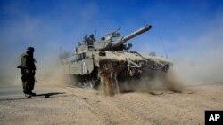 Isroil tanklari G'azoda.