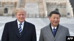 特朗普和習近平在紫禁城
