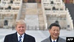 特朗普和习近平在紫禁城