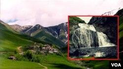 ხადის ხეობა, სოფელი წკერე და ჩანჩქერი ხადისწყლის ხეობაში