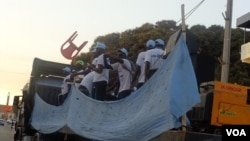 Guiné-Bissau, Jovens apoiam os seus candidatos às eleições de 13 de Abril, cidade de Bissau, Abril 2014