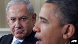 Tổng thống Mỹ Barack Obama (phải) và Thủ tướng Israel Benjamin Netanyahu tại Tòa Bạch Ốc, 20/5/2011