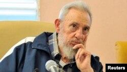 Fidel Castro, de 88 años líder de la revolución cubana.