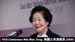 香港前政務司司長陳方安生 (攝影:美國之音湯惠芸)