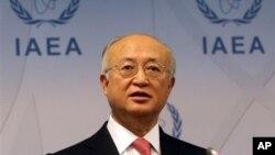 4일 오스트리아 빈에서 열린 국제원자력기구 정기이사회에서 아마노 유키야 국제원자력기구(IAEA) 사무총장.