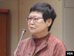 台北故宫博物院院长冯明珠(美国之音张永泰拍摄)