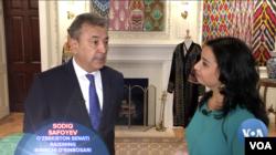 """Senator Safoyev """"Amerika Ovozi"""" bilan suhbatda, O'zbekistonning Vashingtondagi elchixonasi, 18-iyul, 2019"""
