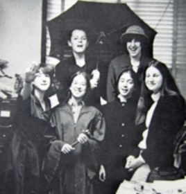 Elena Kagan, (center in robe carrying gavel) in 1977, as president of her high school.