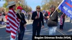 特朗普支持者在華盛頓特區集會。(2020年11月14日)