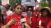 واشنگٹن: کشمیریوں کا مظاہرہ، خود ارادیت اور آزادی کے حق میں نعرے
